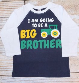 Lincoln&Lexi I AM GOING TO BE A BIG BROTHER, TRACTOR""