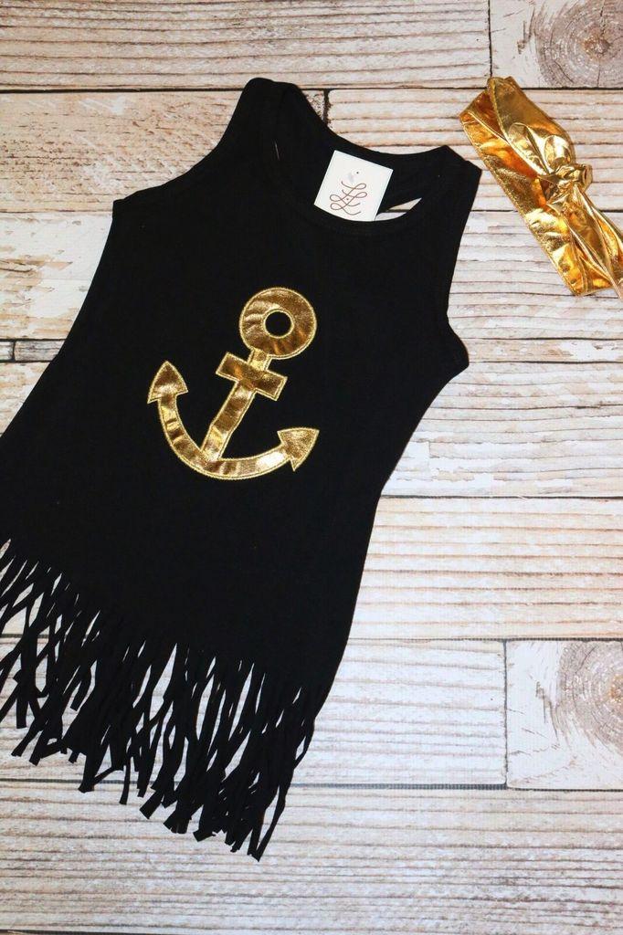 Lincoln&Lexi Anchors Away Fringe Dress & Headbande