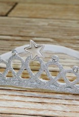 Lincoln&Lexi Glitter Princess Crown Headband.Silver