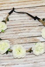 Lincoln&Lexi Bohemian Floral Headband Wreath.Ivory