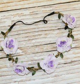 Lincoln&Lexi Bohemian Floral Headband Wreath.Lavender