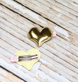 Lincoln&Lexi Metallic Puff Hair Clips