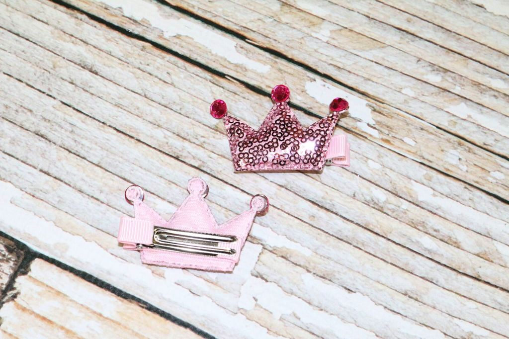 Lincoln&Lexi Princess Sequin Crown Clips