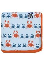 Kickee Pants Print Swaddling Blanket (Pond Crabby)
