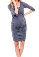 Ingrid & Isabel 3/4 Sleeve Shirred Dress