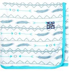 Kickee Pants Print Swaddle Blanket.Natural Southwest