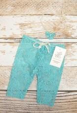 Lincoln&Lexi Newborn Mini Lace Legging & Headband Set