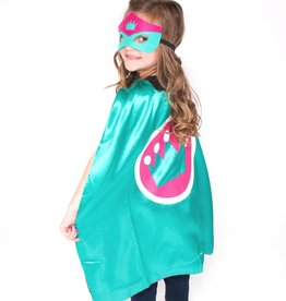 Lincoln&Lexi Superhero Cape & Mask Set-Crown-Teal