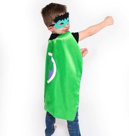 Lincoln&Lexi Superhero Cape & Masks-Incredible Hulk