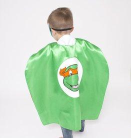 Lincoln&Lexi Superhero Cape & Masks-TMNT-Orange