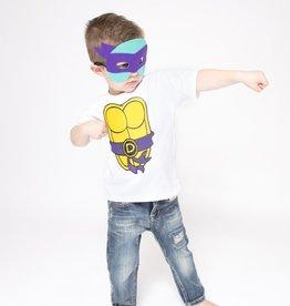 Lincoln&Lexi Superhero Cape & Masks-TMNT-Purple