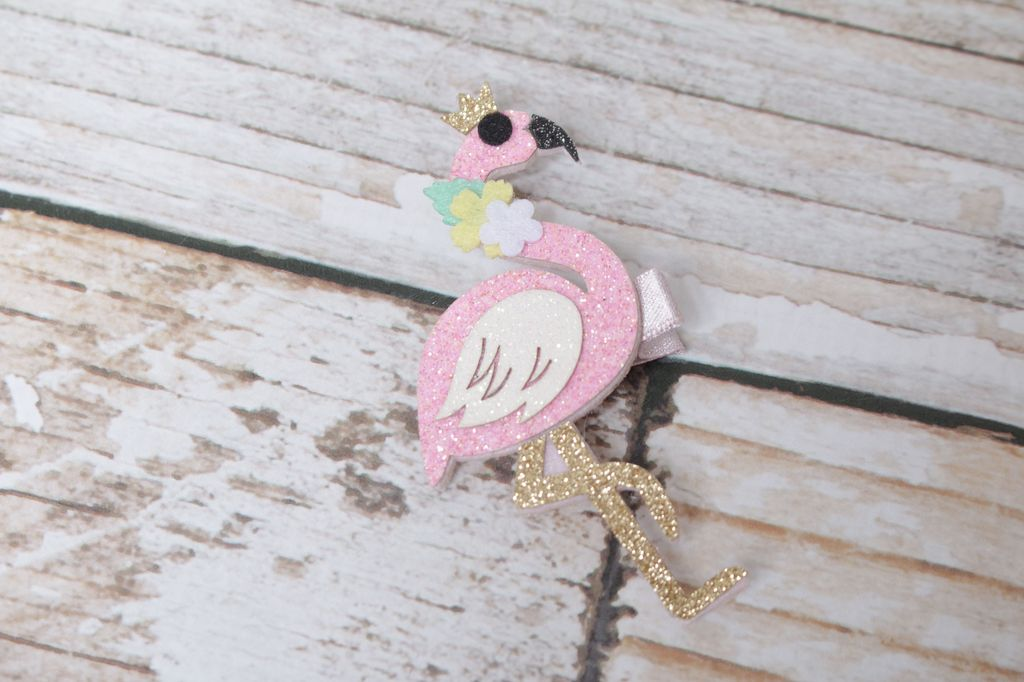 Lincoln&Lexi Flamingo Sparkle Hair Clip