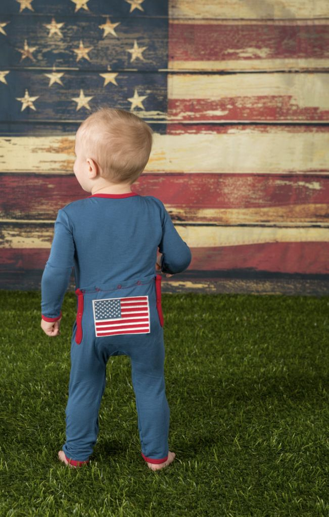 Kickee Pants Fitted Coverall.American Flag