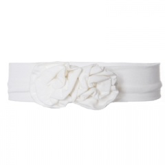 Kickee Pants Solid Flower Headband.Natural