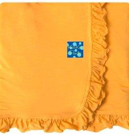 Kickee Pants Solid Ruffle Stroller Blanket.Fuzzy Bee