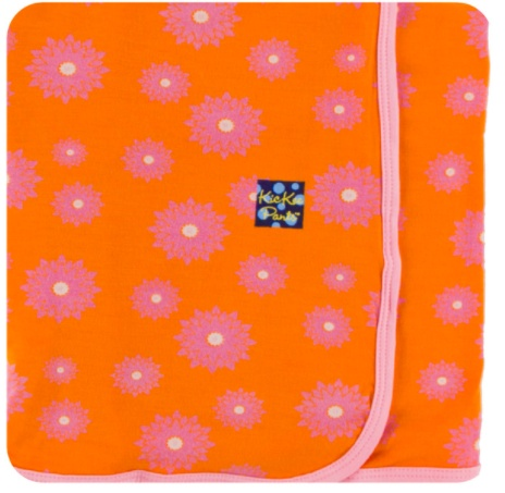 Kickee Pants Swaddling Blanket.Sunset Water Lily