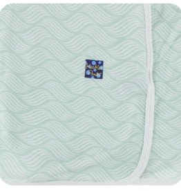 Kickee Pants Swaddling Blanket.Aloe Water Lattice