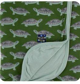Kickee Pants Print Stroller Blanket.Moss Turtle