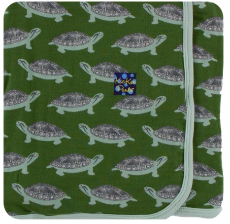 Kickee Pants Swaddling Blanket.Moss Turtle