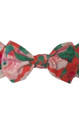 Baby Bling Printed Knot (Watercolor Floral Coral)
