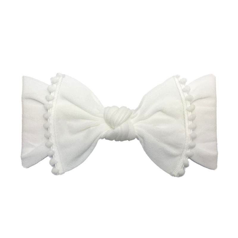 Baby Bling Trimmed Classic Knot (White)