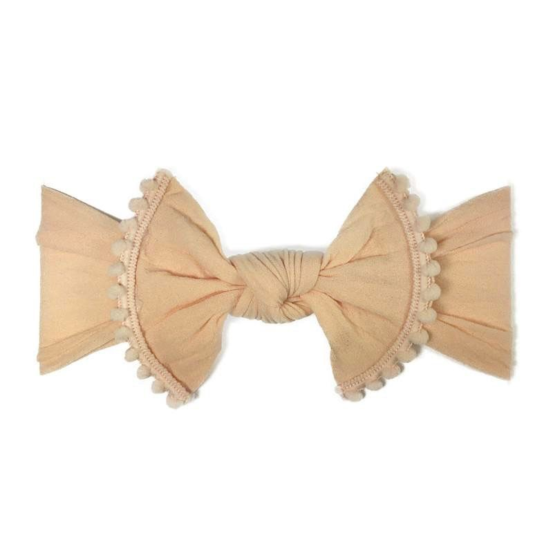 Baby Bling Trimmed Classic Knot (Peach)