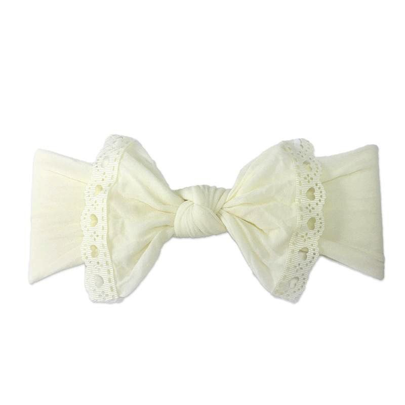 Baby Bling Trimmed Classic Knot (Ivory Lace)