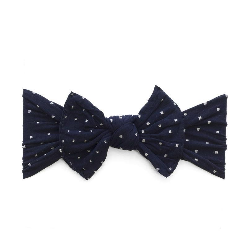 Baby Bling Patterned Knot (Navy Dot)