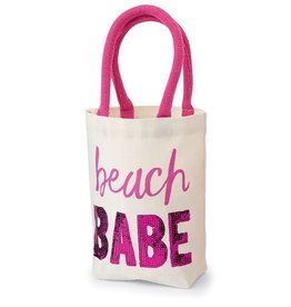 Mud Pie FUN IN THE SUN MINI TOTES-beach BABE-9in x 8 1/in x in