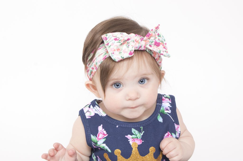 Baby Bling Printed Knot ( Scatter Floral White)