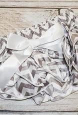 Lincoln&Lexi Chevron Satin Ruffle Diaper Covers