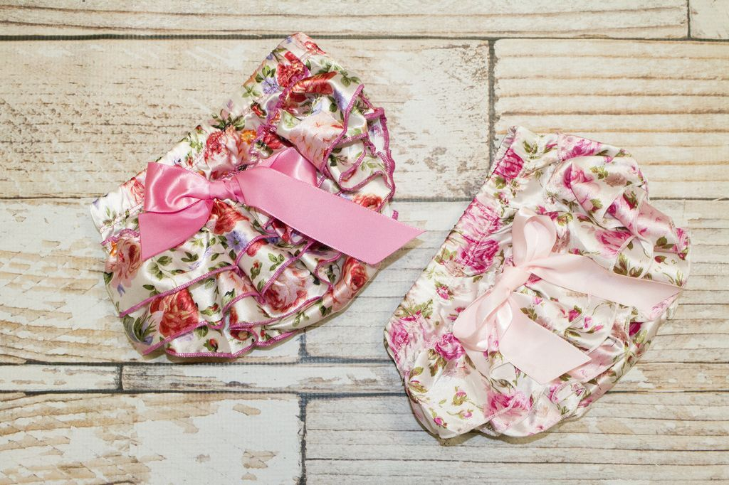 Lincoln&Lexi Floral Satin Diaper Cover