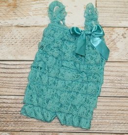 Lincoln&Lexi Solid Lace Romper