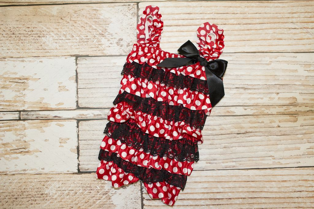 Lincoln&Lexi Minnie Mouse Lace Romper