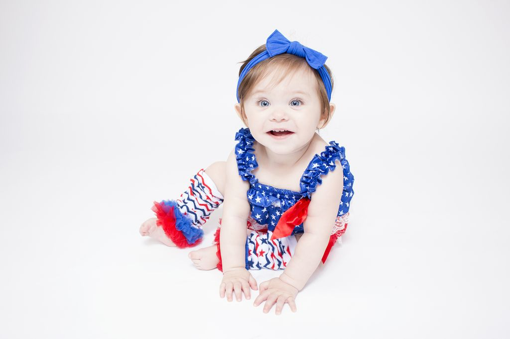 Lincoln&Lexi 4th Of July Lace Rompers