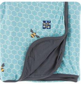 Kickee Pants Print Stroller Blanket (Glacier Honeycomb - One Size)