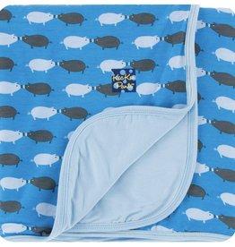 Kickee Pants Print Stroller Blanket (River Pig - One Size)
