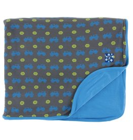 Kickee Pants Print Toddler Blanket (Stone Tractor - One Size)
