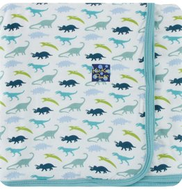 Kickee Pants Print Swaddling Blanket (Boy Dino Print)
