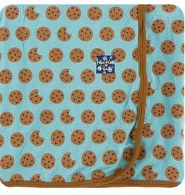 Kickee Pants Print Swaddling Blanket (Glacier Cookie)