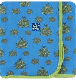 Kickee Pants Print Swaddling Blanket (River Hay Bales)