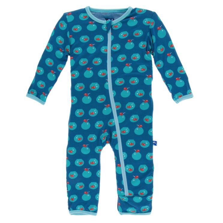 Kickee Pants Coverall with Zipper