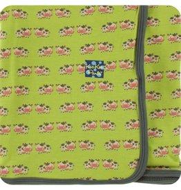 Kickee Pants Print Swaddling Blanket (Meadow Cow)