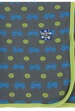 Kickee Pants Print Swaddling Blanket (Stone Tractor)
