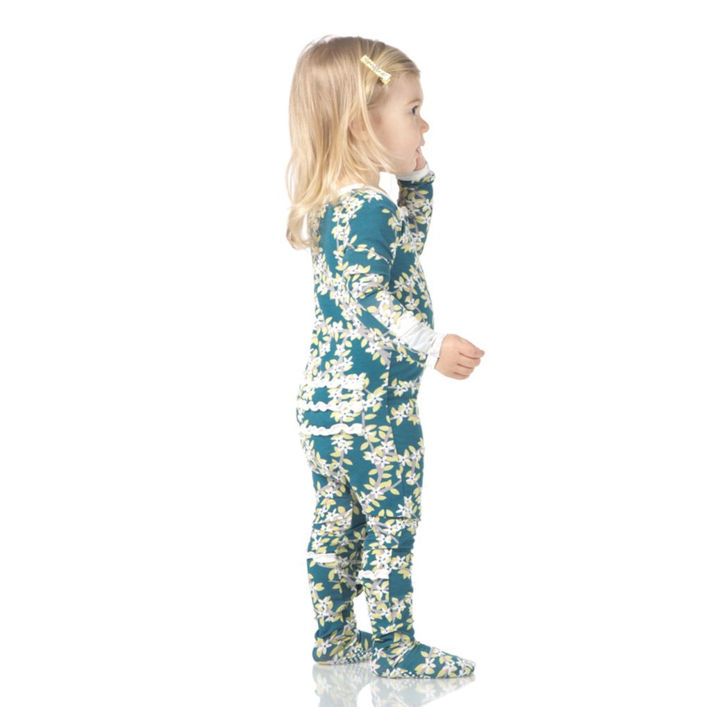 Kickee Pants Muffin Ruffle Footie with Zipper