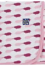 Kickee Pants Print Swaddling Blanket (Natural Pig)