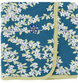 Kickee Pants Print Swaddling Blanket (Peacock Tree Canopy)