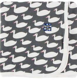 Kickee Pants Print Swaddling Blanket (Stone Geese)