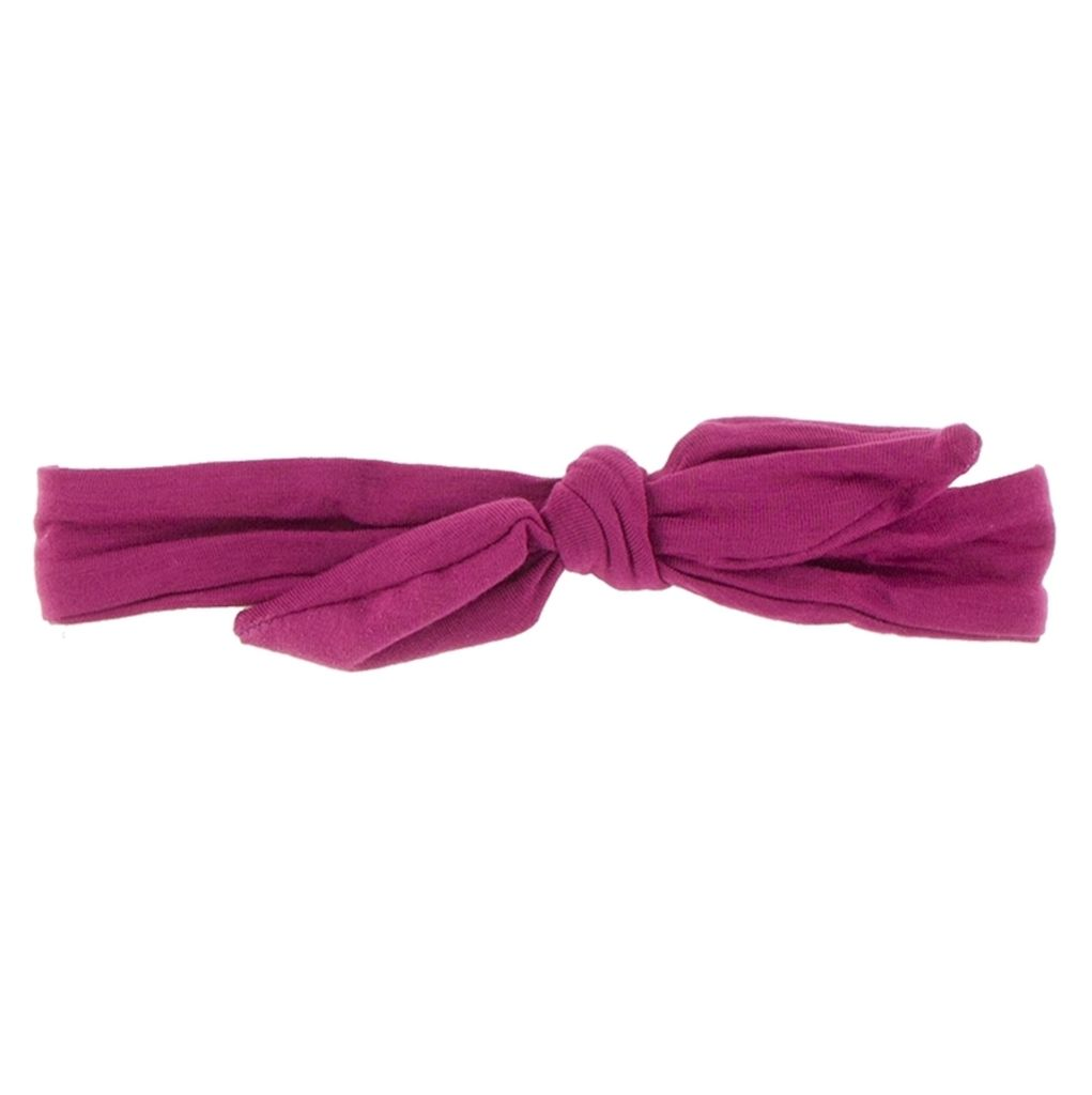 Kickee Pants Solid Bow Headband (Berry - One Size)