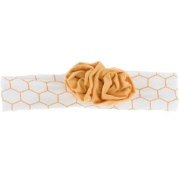 Kickee Pants Print Flower Headband (Natural Honeycomb - One Size)